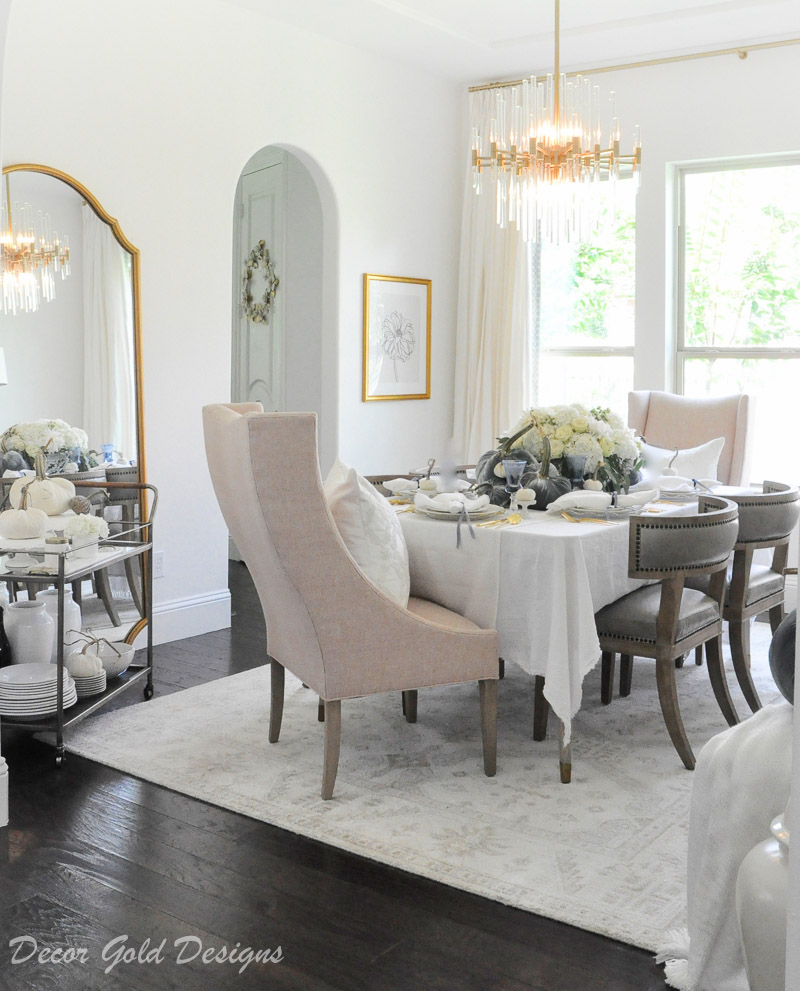 fall home tour elegant dining room