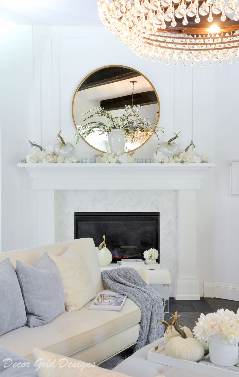 fall home tour elegant fireplace decor
