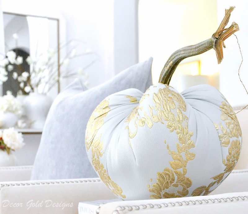 fall home tour elegant specialty pumpkin