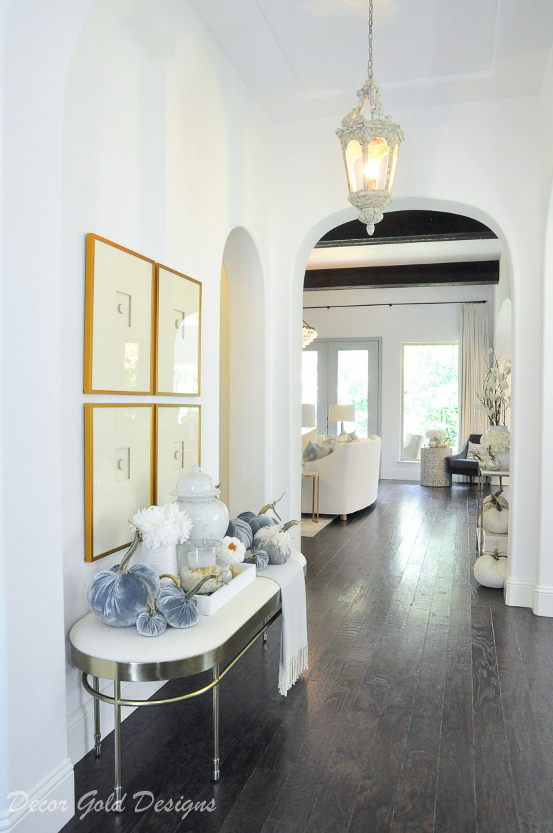 Elegant decor well styled bright beautiful entryway fall home tour