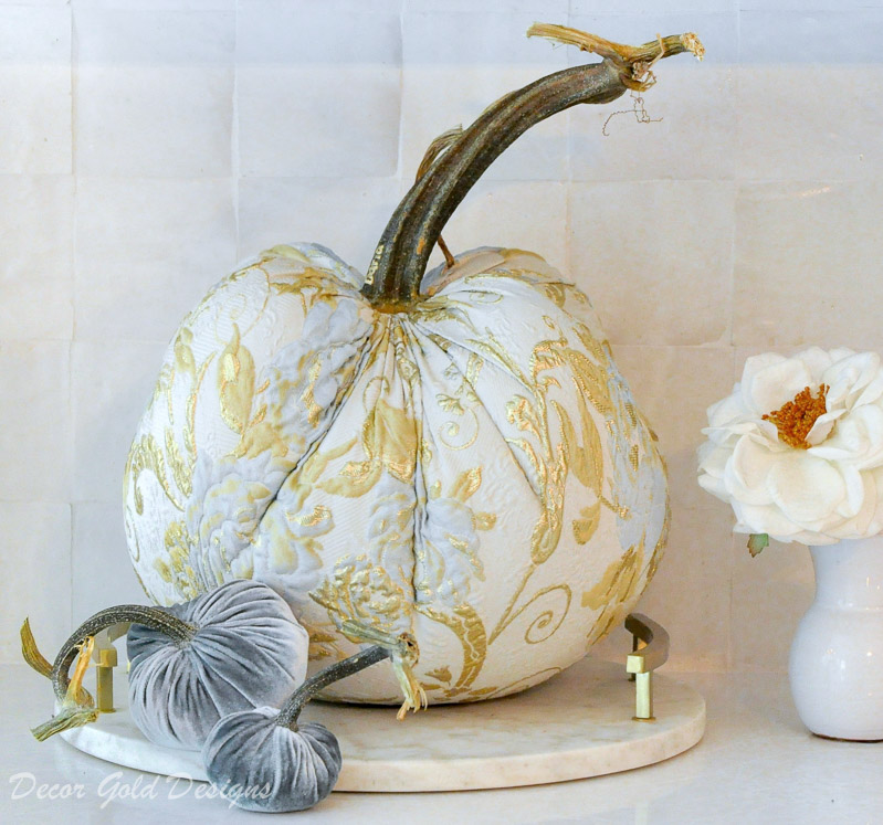 fall home tour white kitchen gold accents beautifully styled specialty pumpkin decor