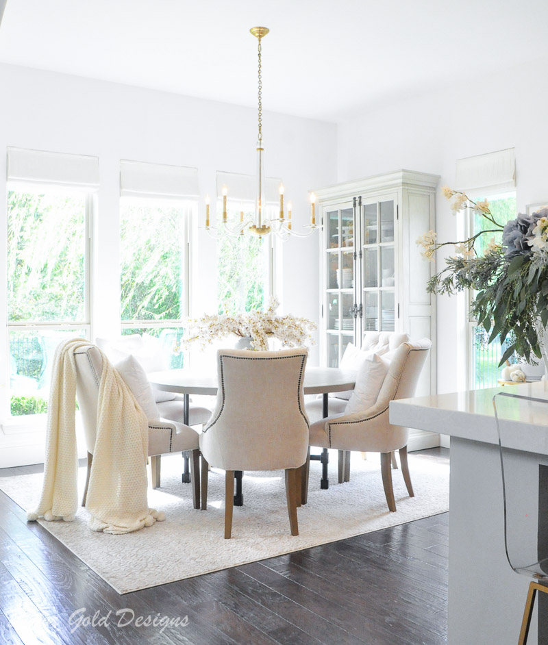 fall home tour styled breakfast nook