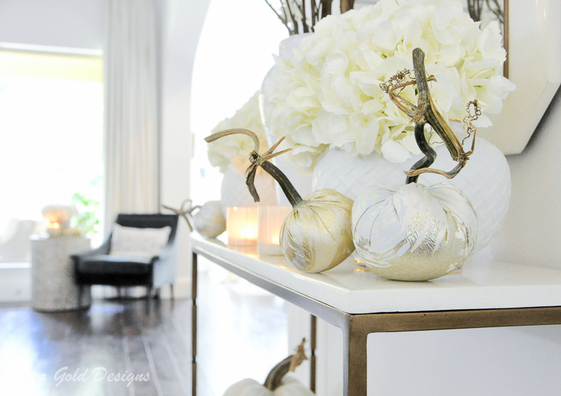 Beautiful fall home tour white pumpkins