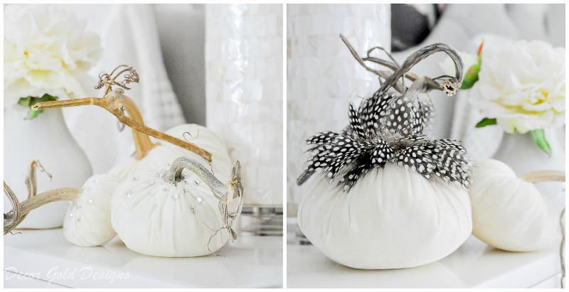 White velvet pumpkins