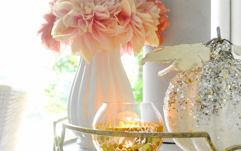 Gold trays votives beautiful home decor accents