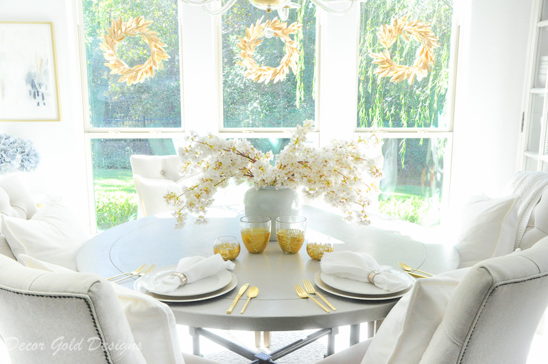 Gold accents tabletop decor