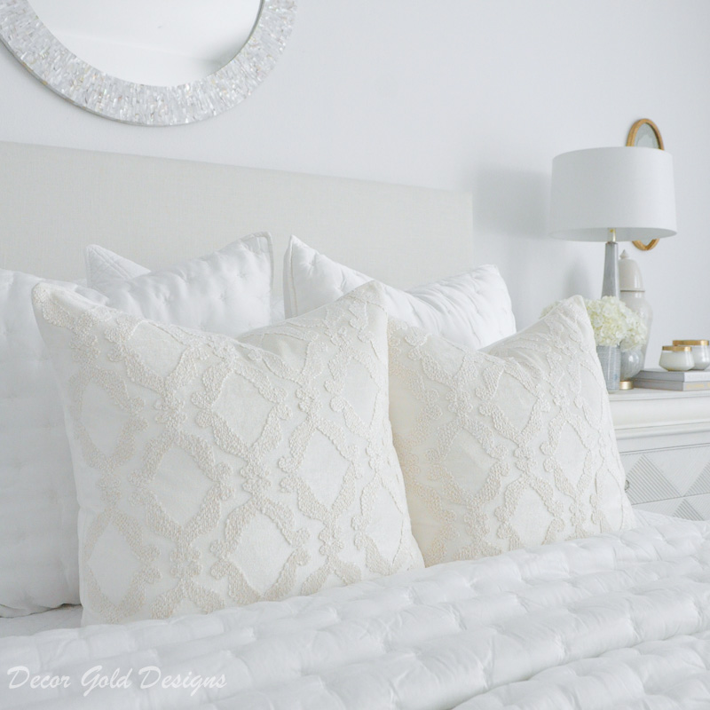 master bedroom refresh white bedding pillows