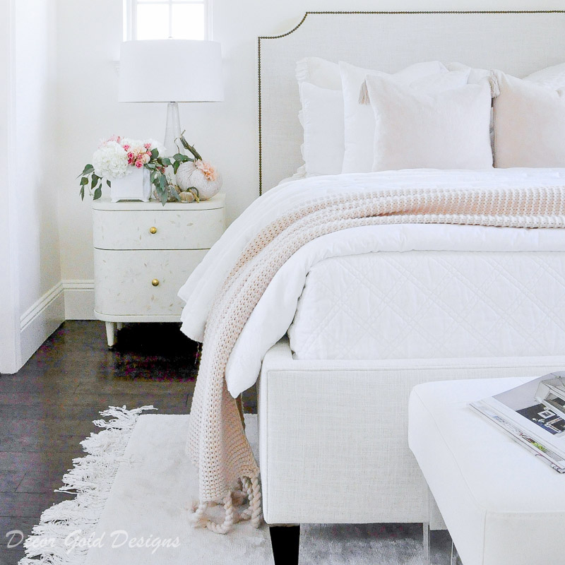 Subtle Fall Touches in the Bedroom