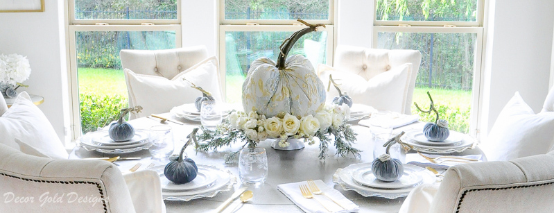 tabletop pumpkin centerpiece styling
