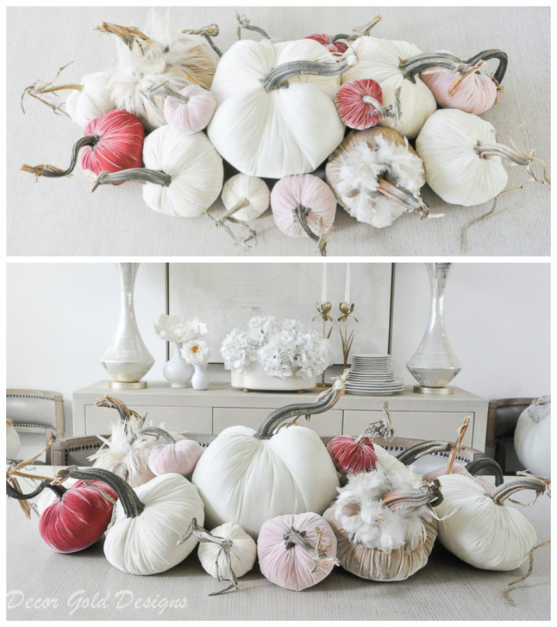 tabletop pumpkin styling neutrals rose blush pink colors
