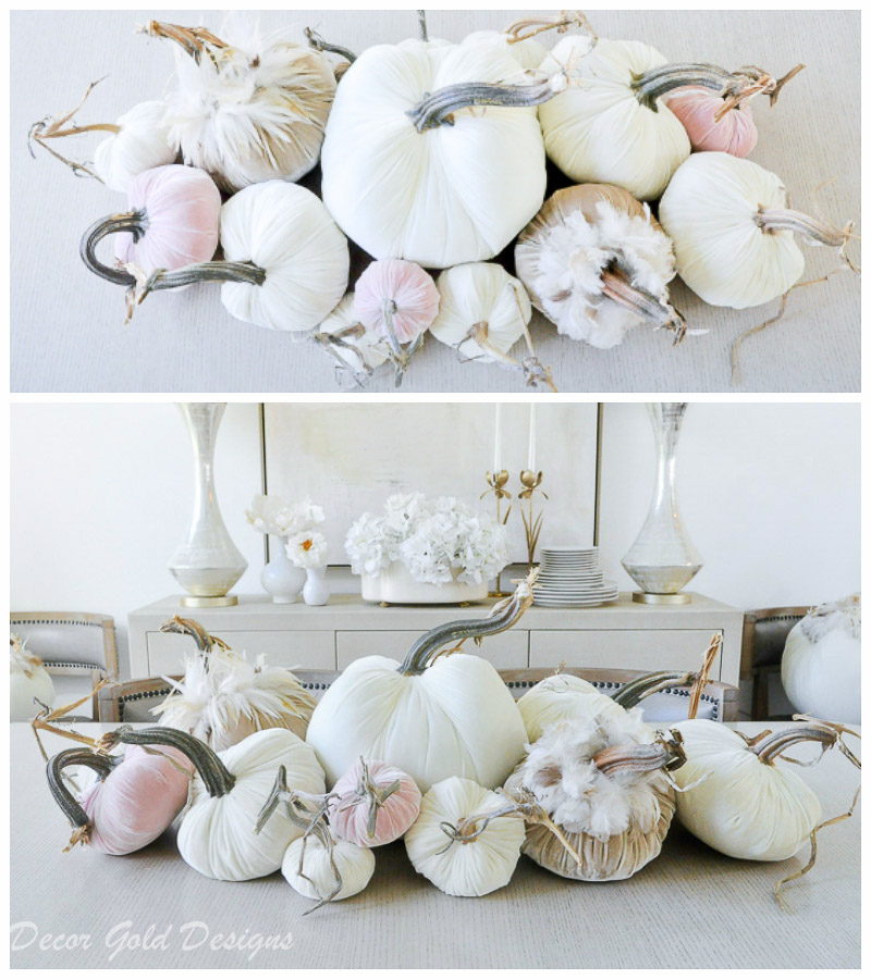 tabletop pumpkin styling neutrals blush pink colors