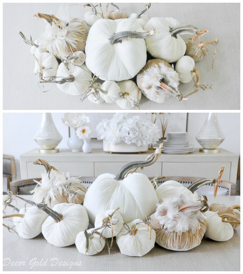 tabletop pumpkin styling neutrals