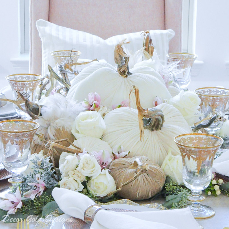 Step by Step Tabletop Pumpkin Styling