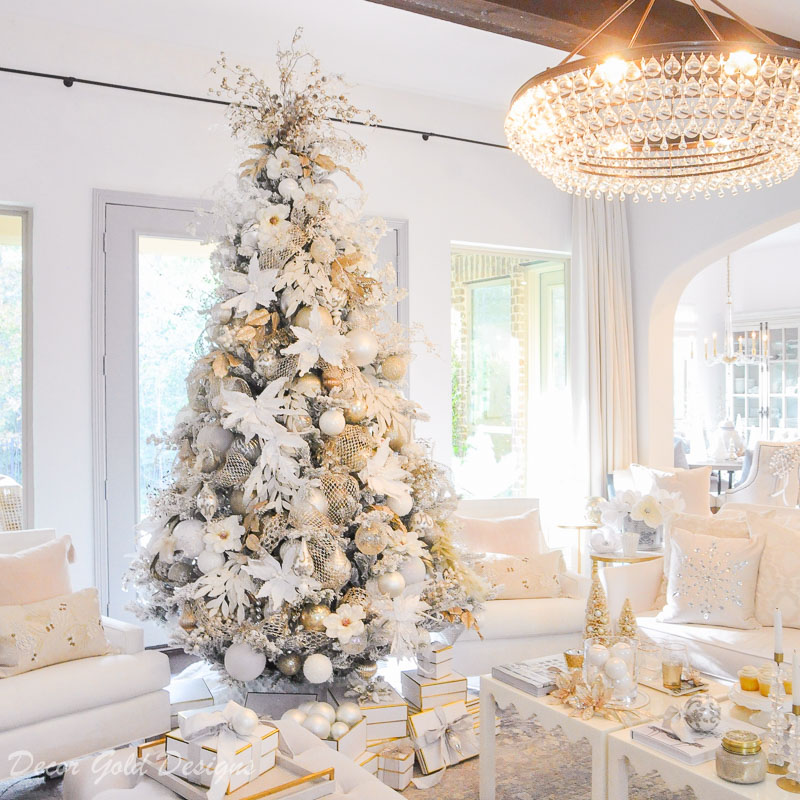 Bright White Christmas Living Room