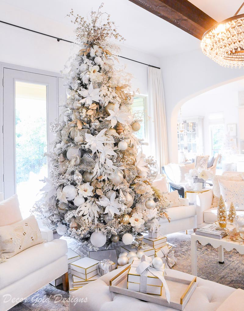 bright christmas living room so beautifully decorated
