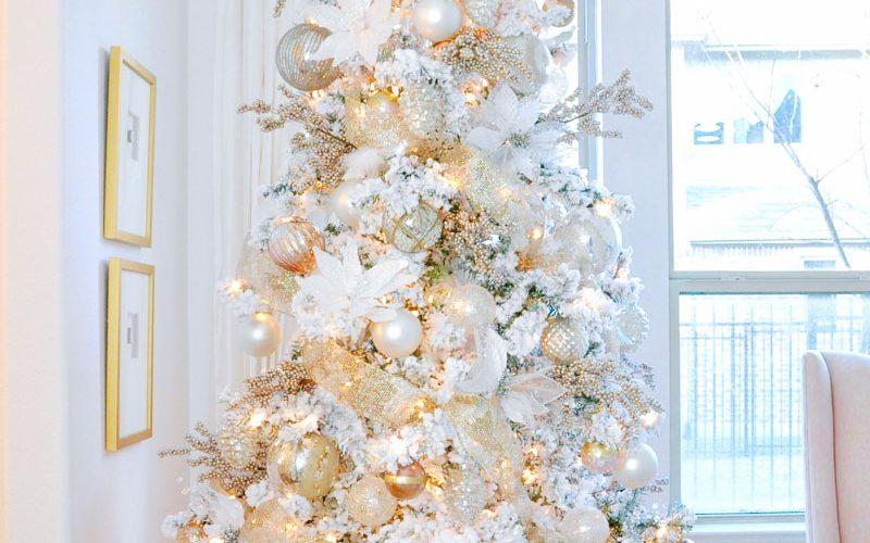 dream christmas tree flocked