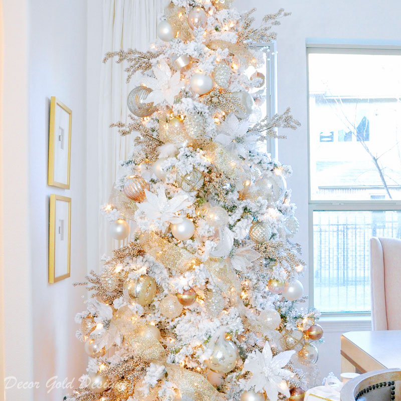 dream christmas tree flocked