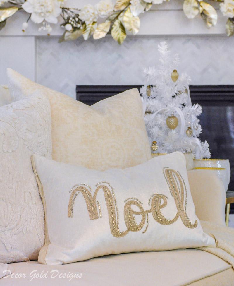 white christmas living room noel pillow