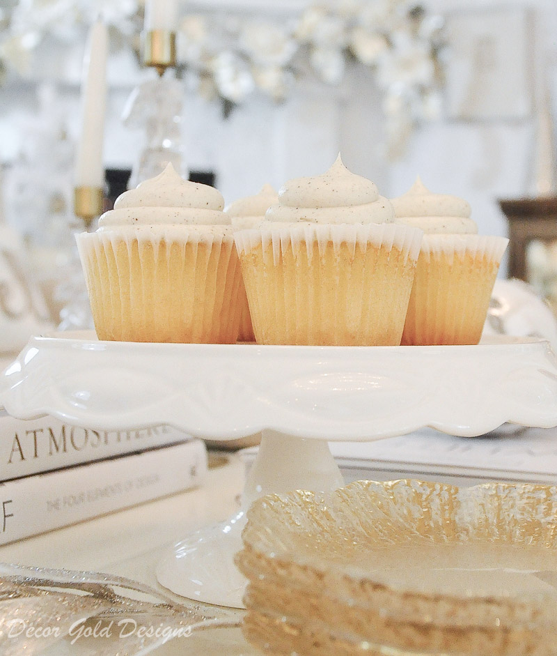 Beautiful white cake stand