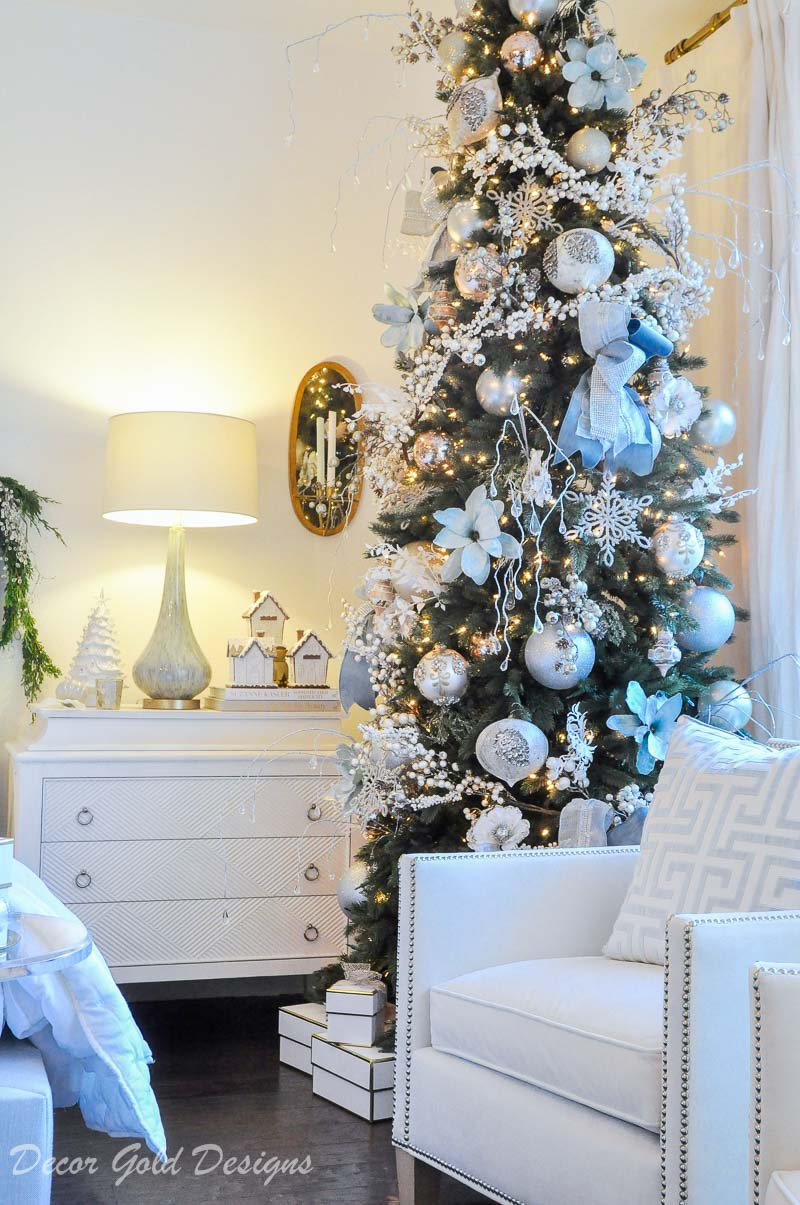 Christmas bedroom beautiful tree well decorated