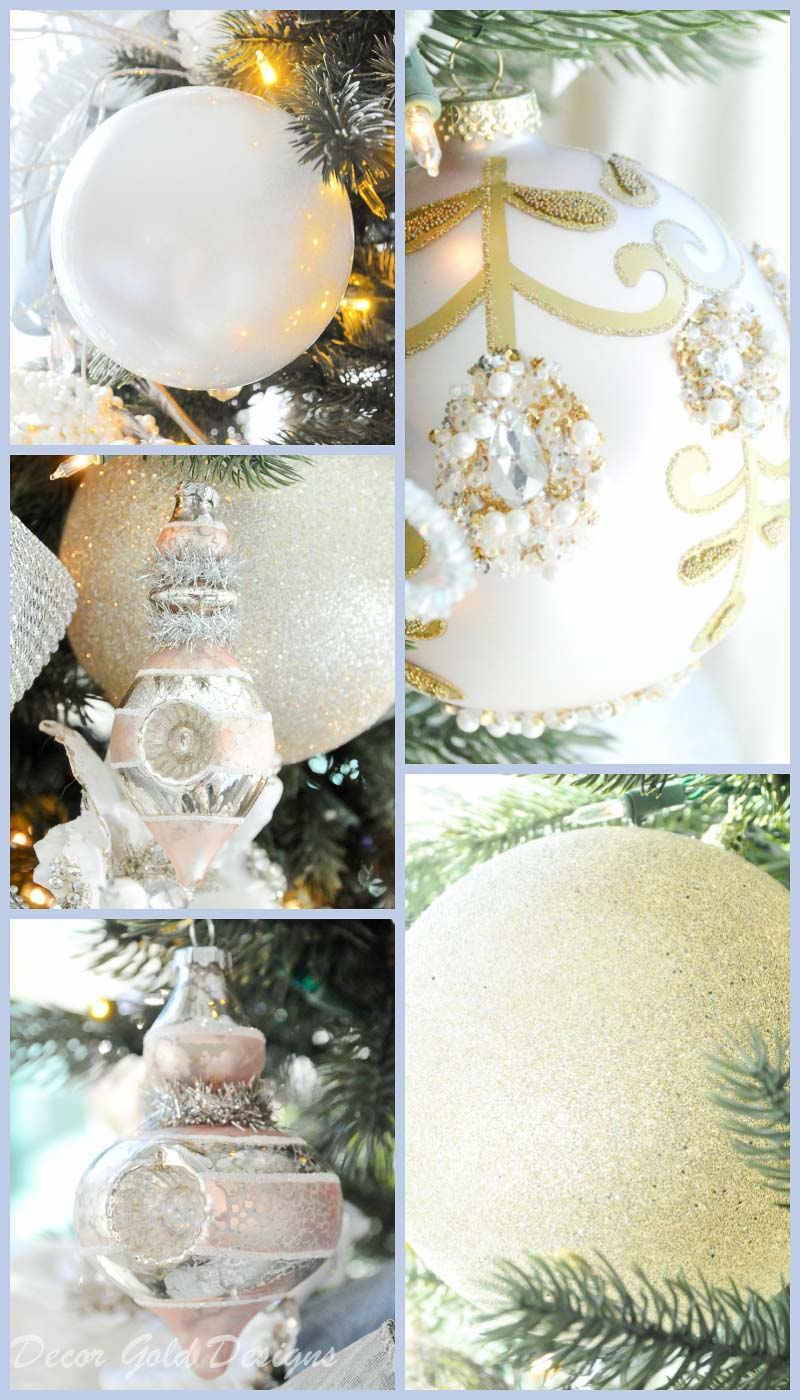 Christmas bedroom tree ornaments