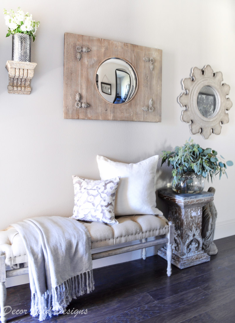 Entryway furniture mirrors