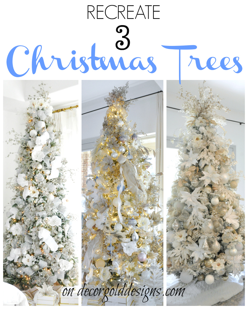 All of the details to help you recreate these gorgeous, elegant Christmas trees!