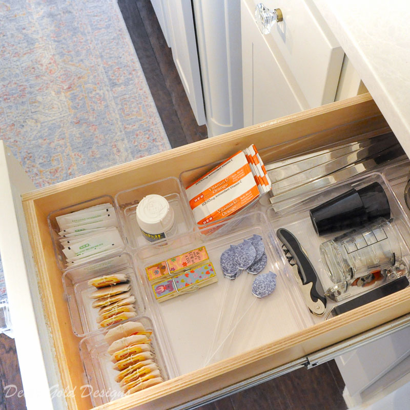 Kitchen organization project small drawer