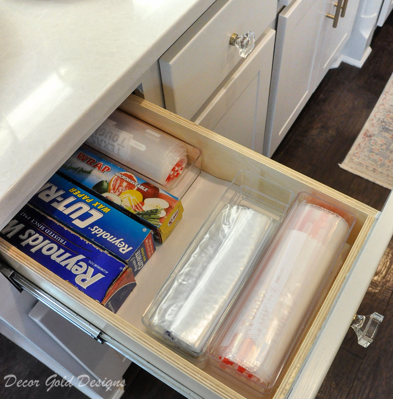 Kitchen organization project foil sandwich storage bag drawer
