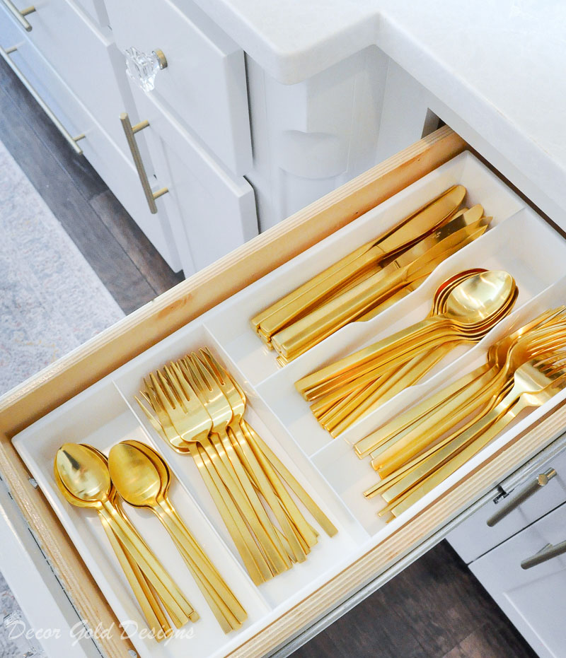 Kitchen organization project silverware drawer