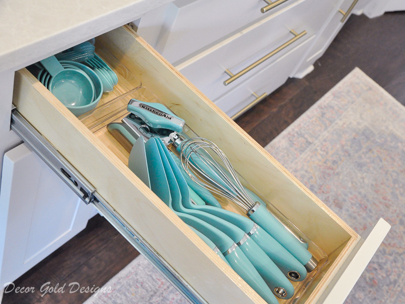 Kitchen organization project cooking utensil drawer