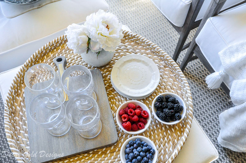 Spring ready patio entertaining tray