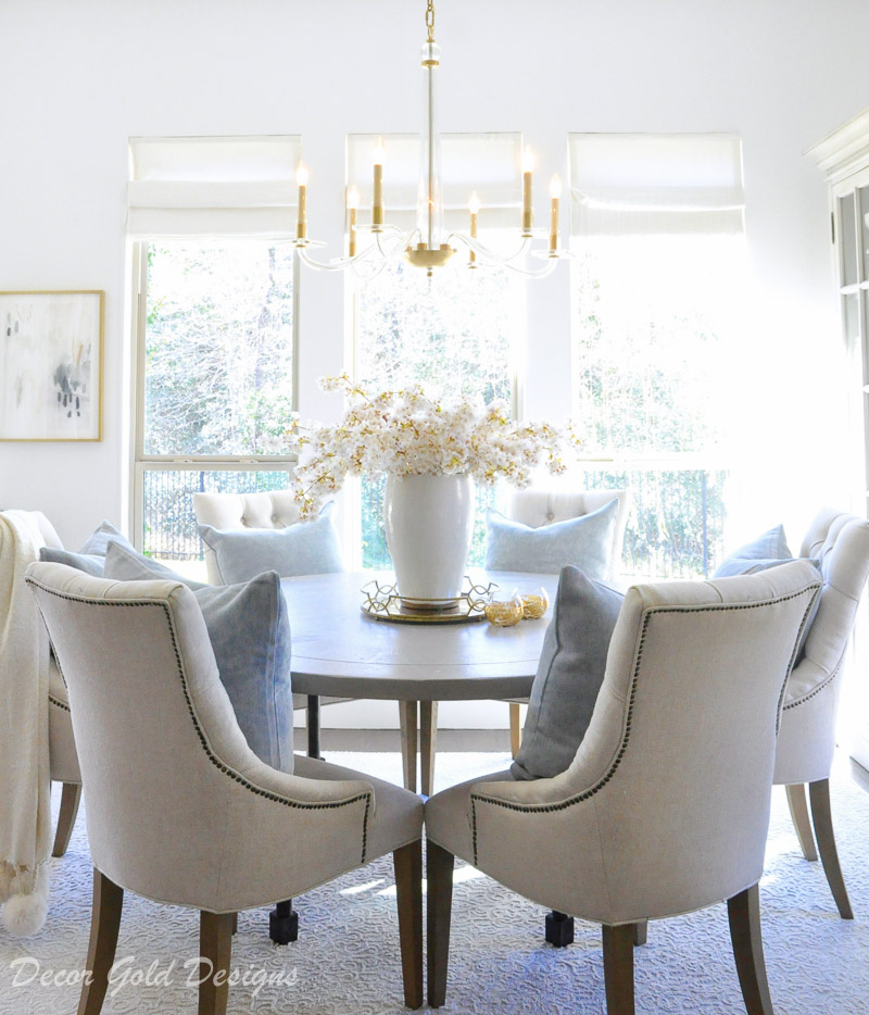 Winter home tour cozy inviting home breakfast room