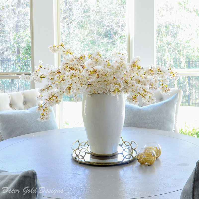 Winter home tour cozy inviting home breakfast room centerpiece
