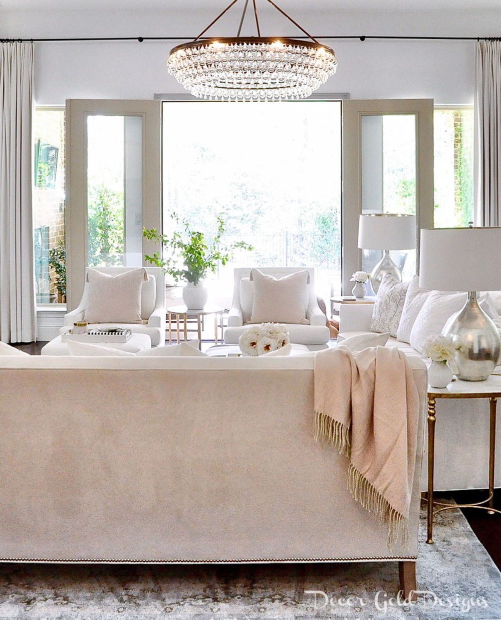 Spring home tour soft white blush colors