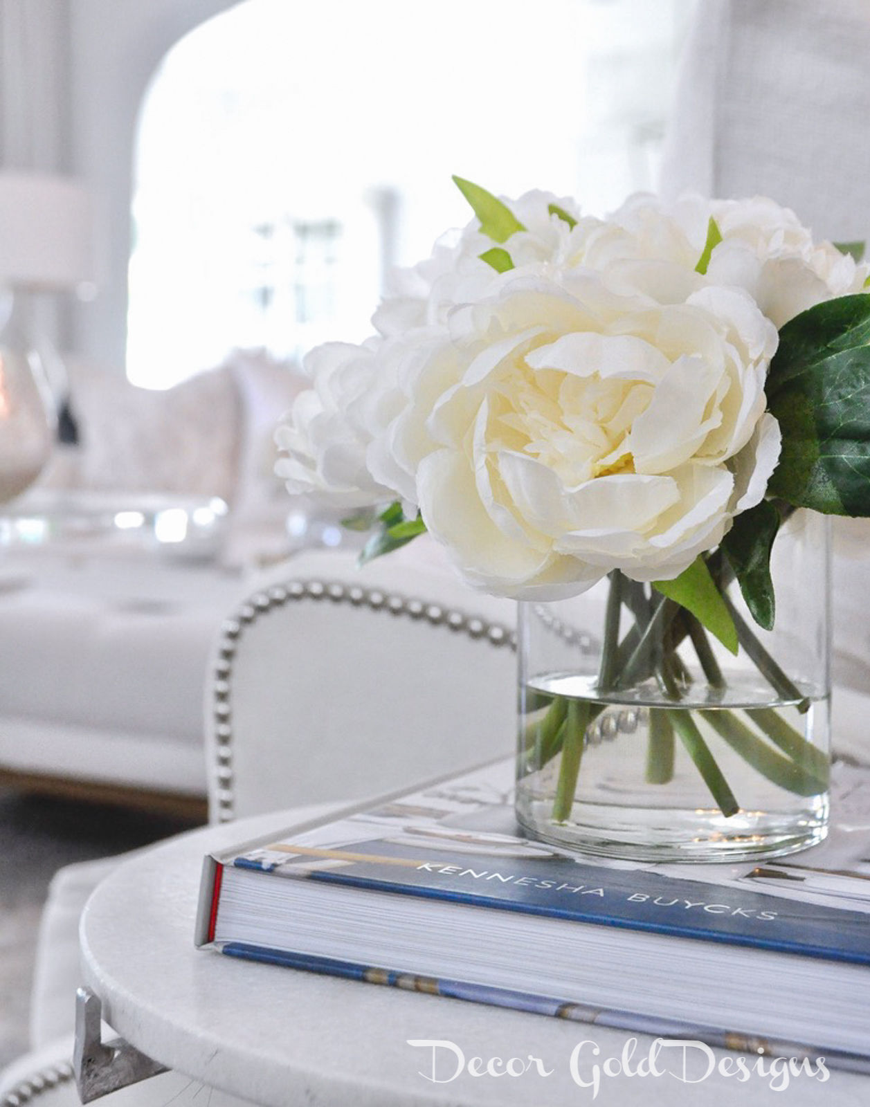 Spring home tour beautiful white arrangement
