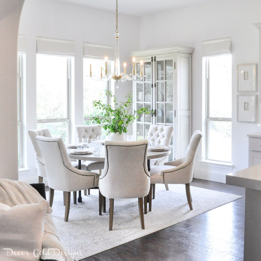 Spring home tour neutral breakfast room