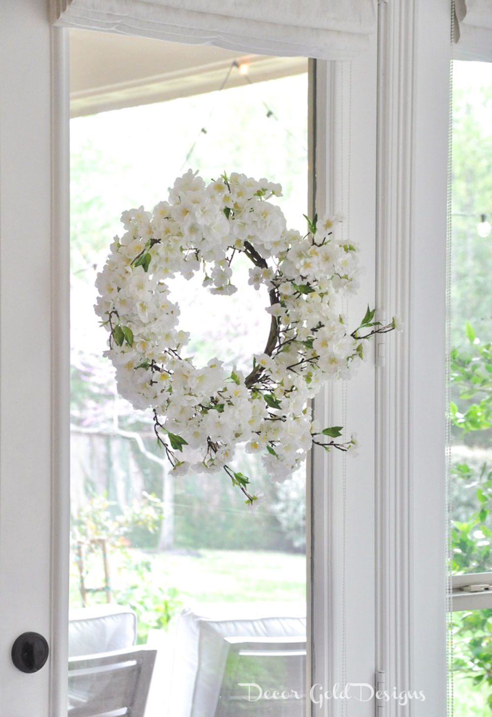 Spring home tour wreath