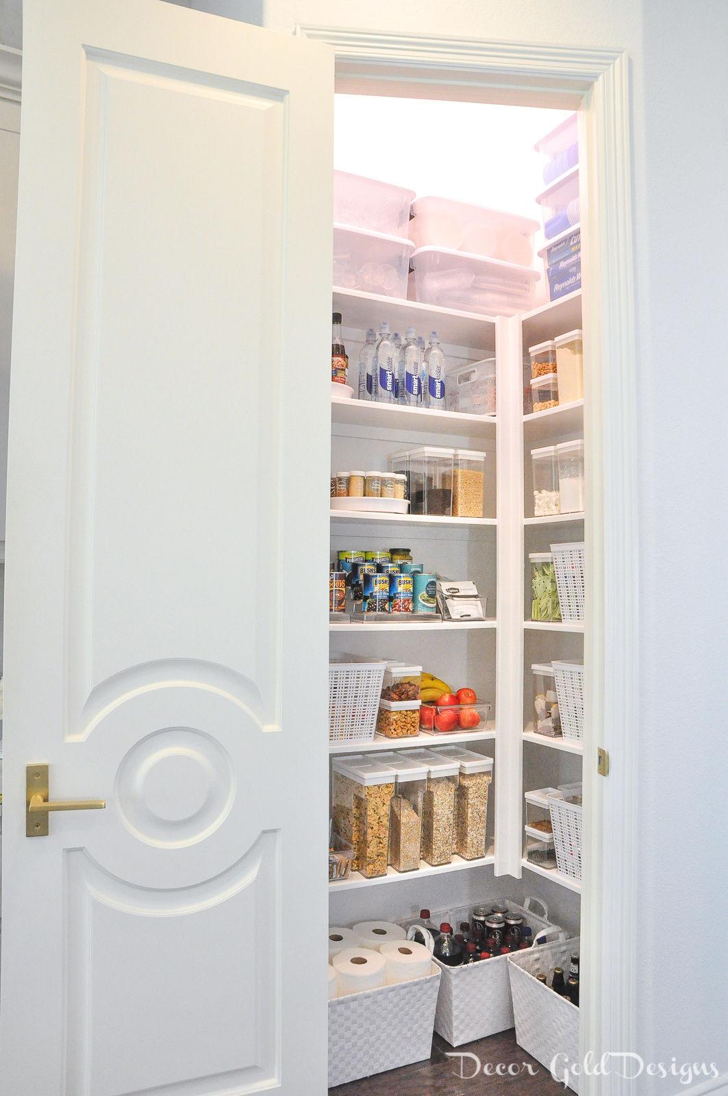 Beautifully organized kitchen pantry
