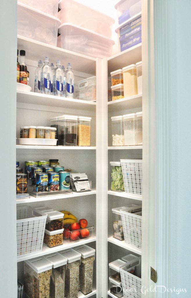 Organized pantry clear containers