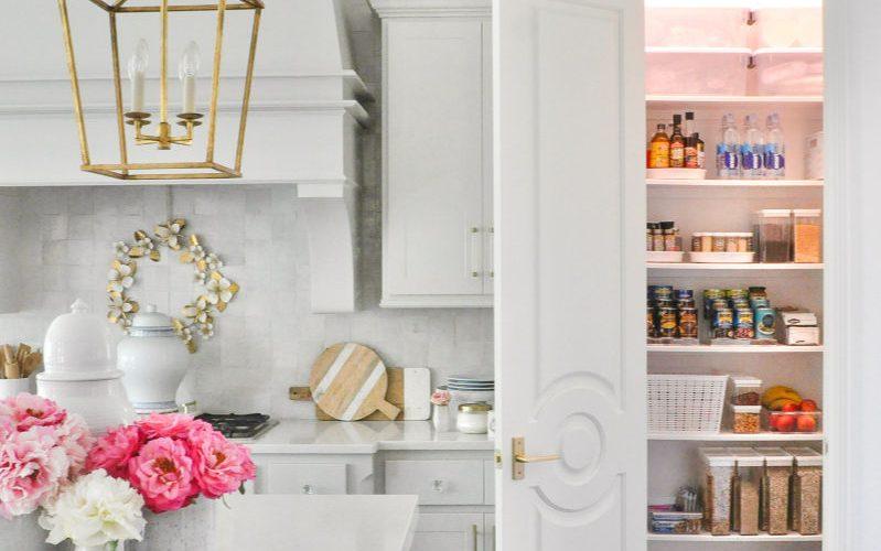 Organized pantry white kitchen