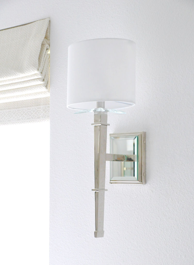 Elegant silver wall sconce