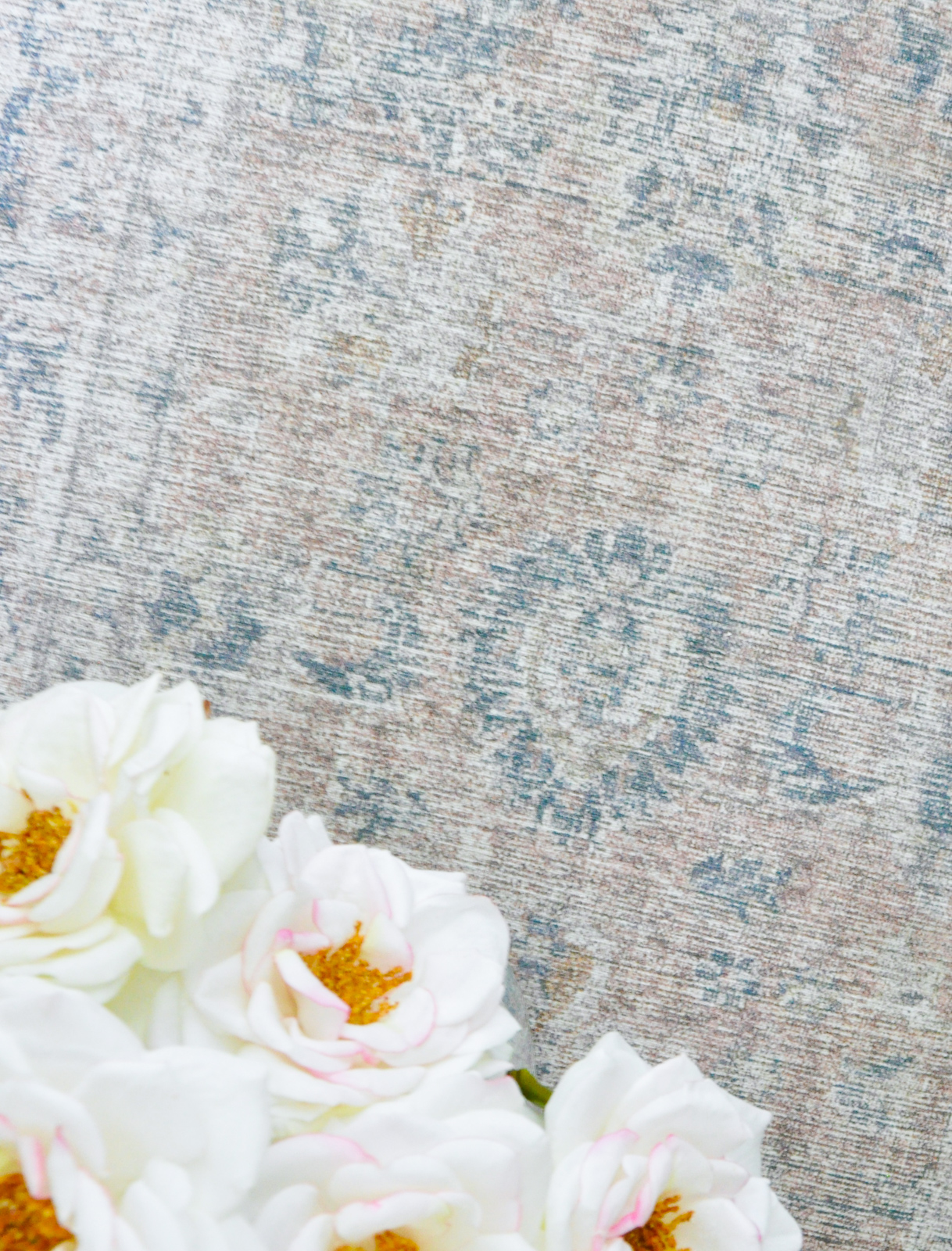 Beautiful blue and rose rug