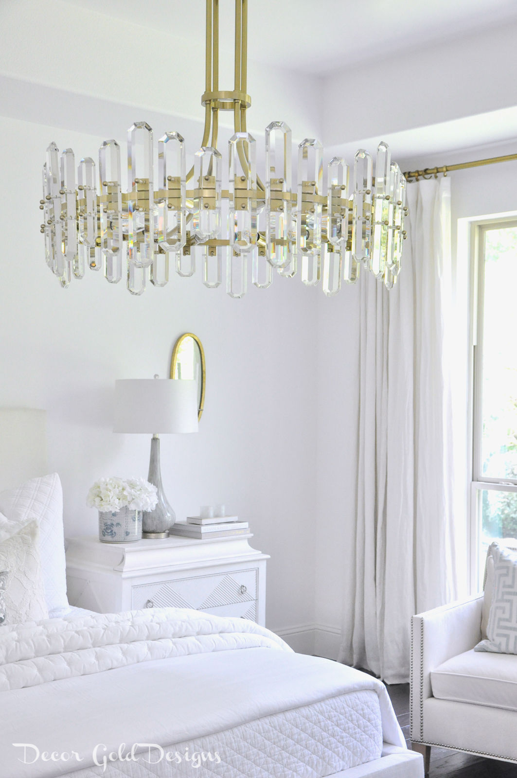 Dream lighting bright white bedroom