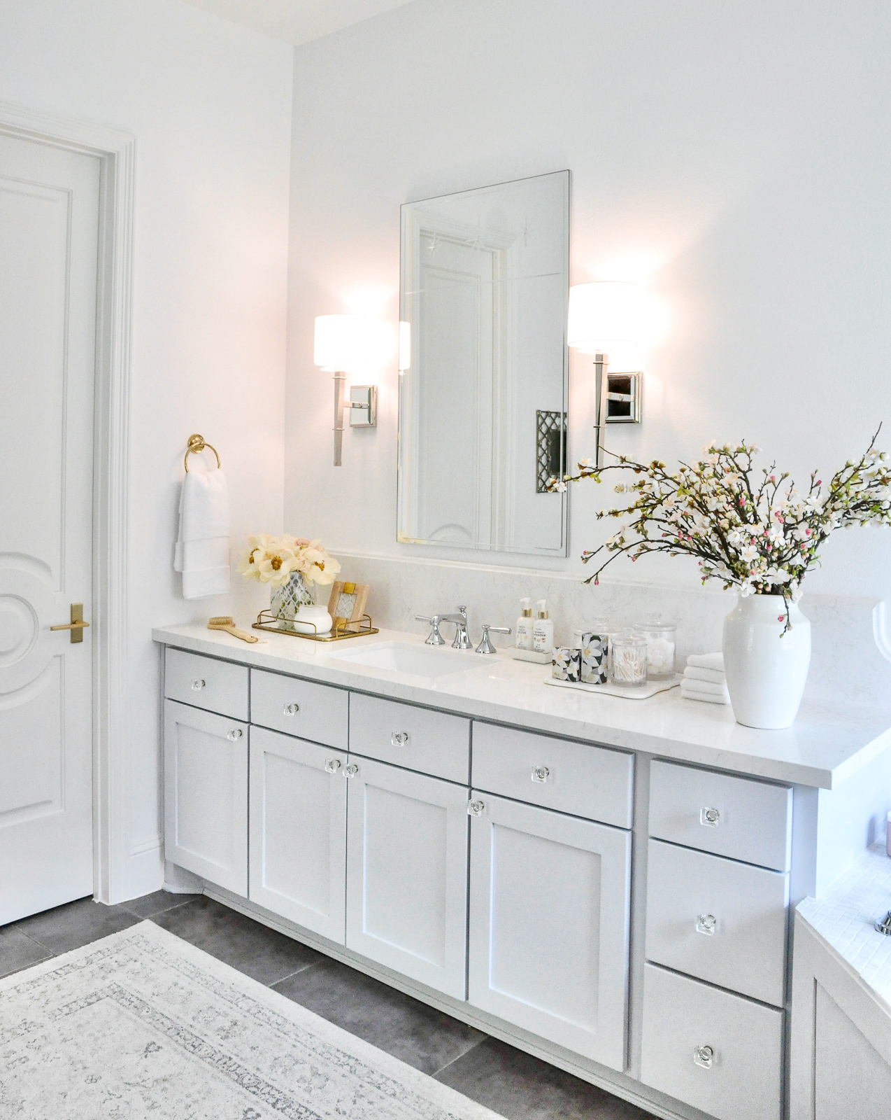 Master bathroom bright beautiful reveal