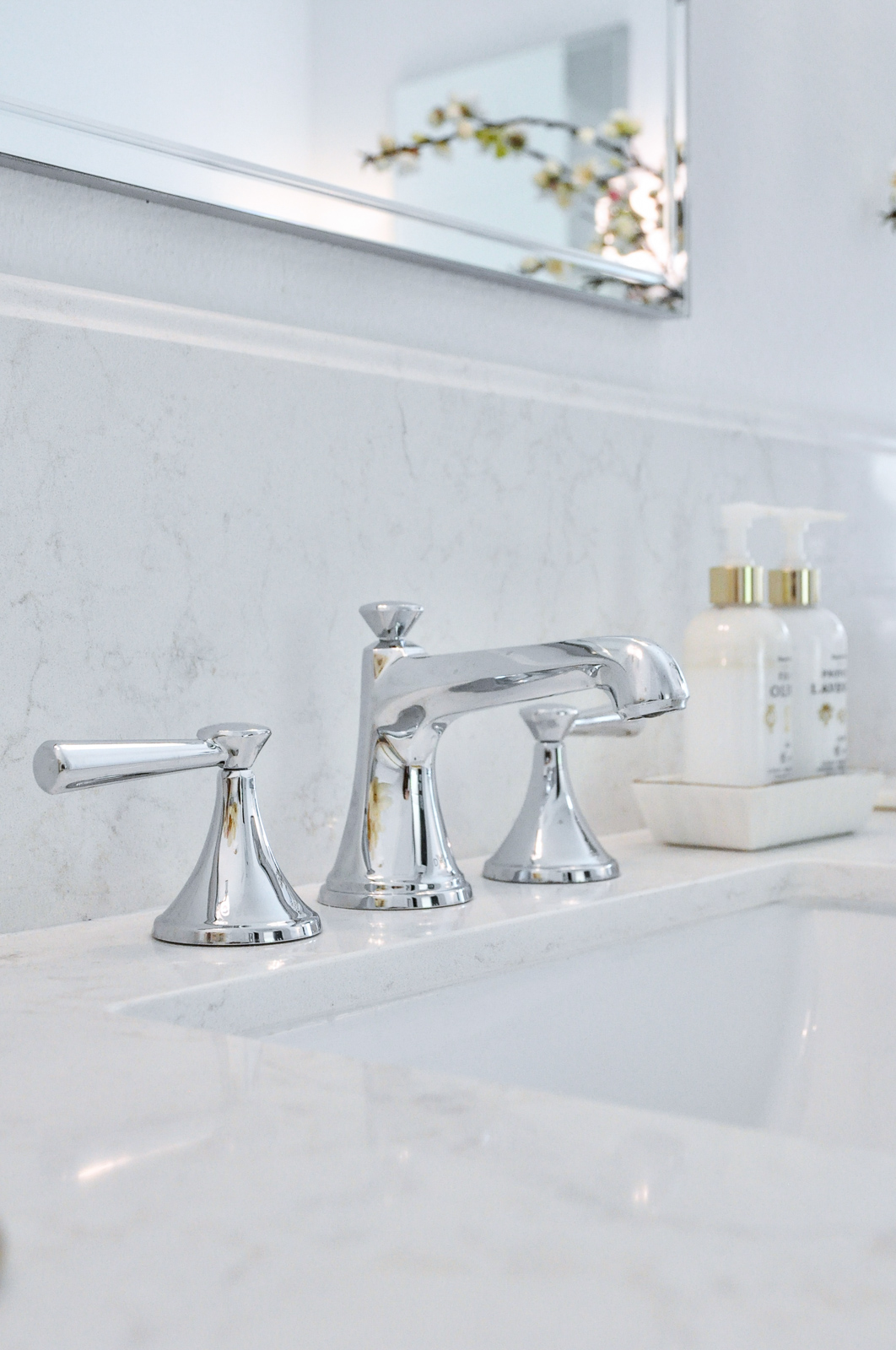 Master bathroom faucet polished nickel