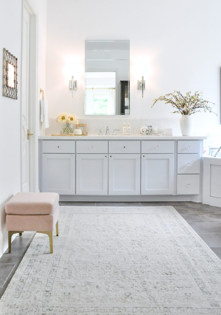 Master bathroom bright beautiful new look reveal shows every angle detail!