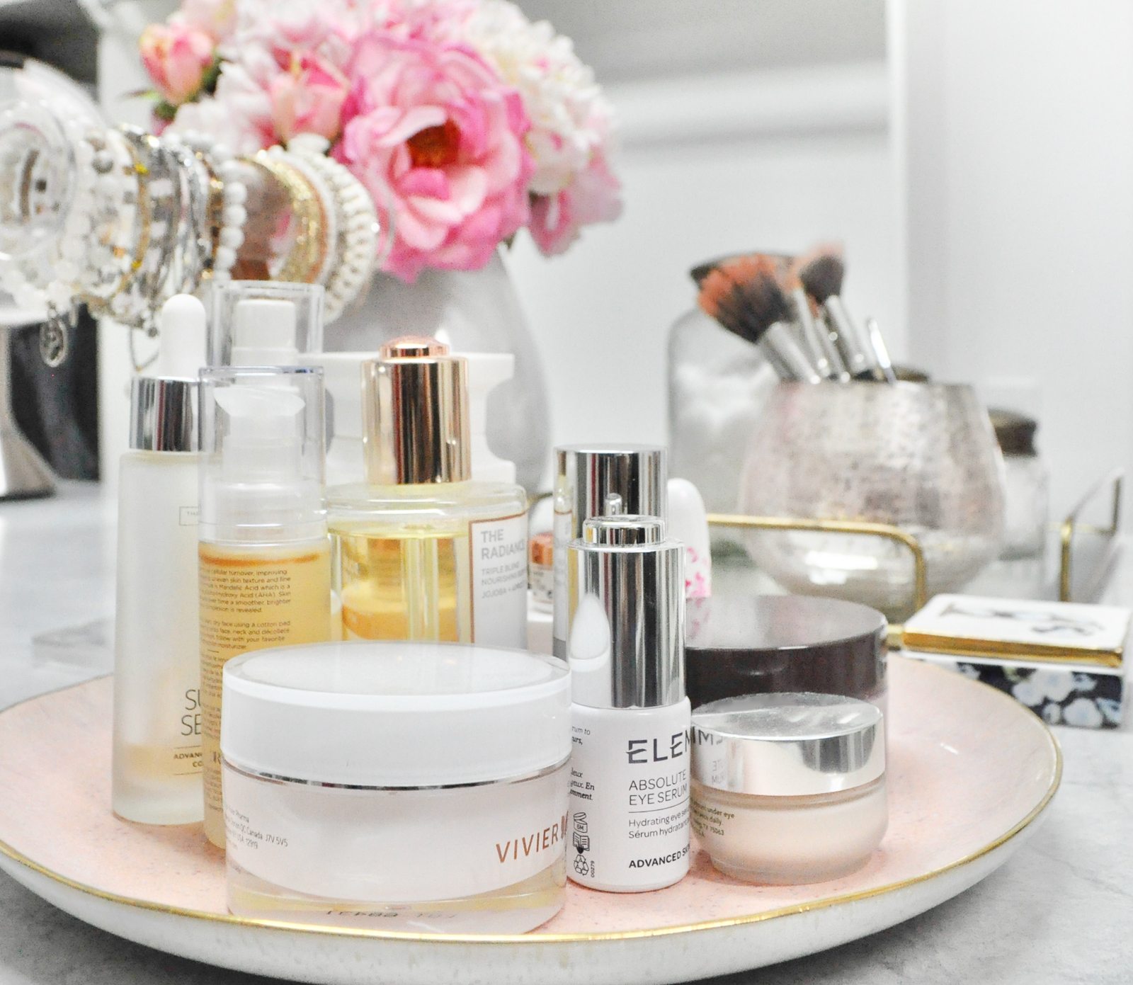 Create beautiful organized closet dresser top space skin care