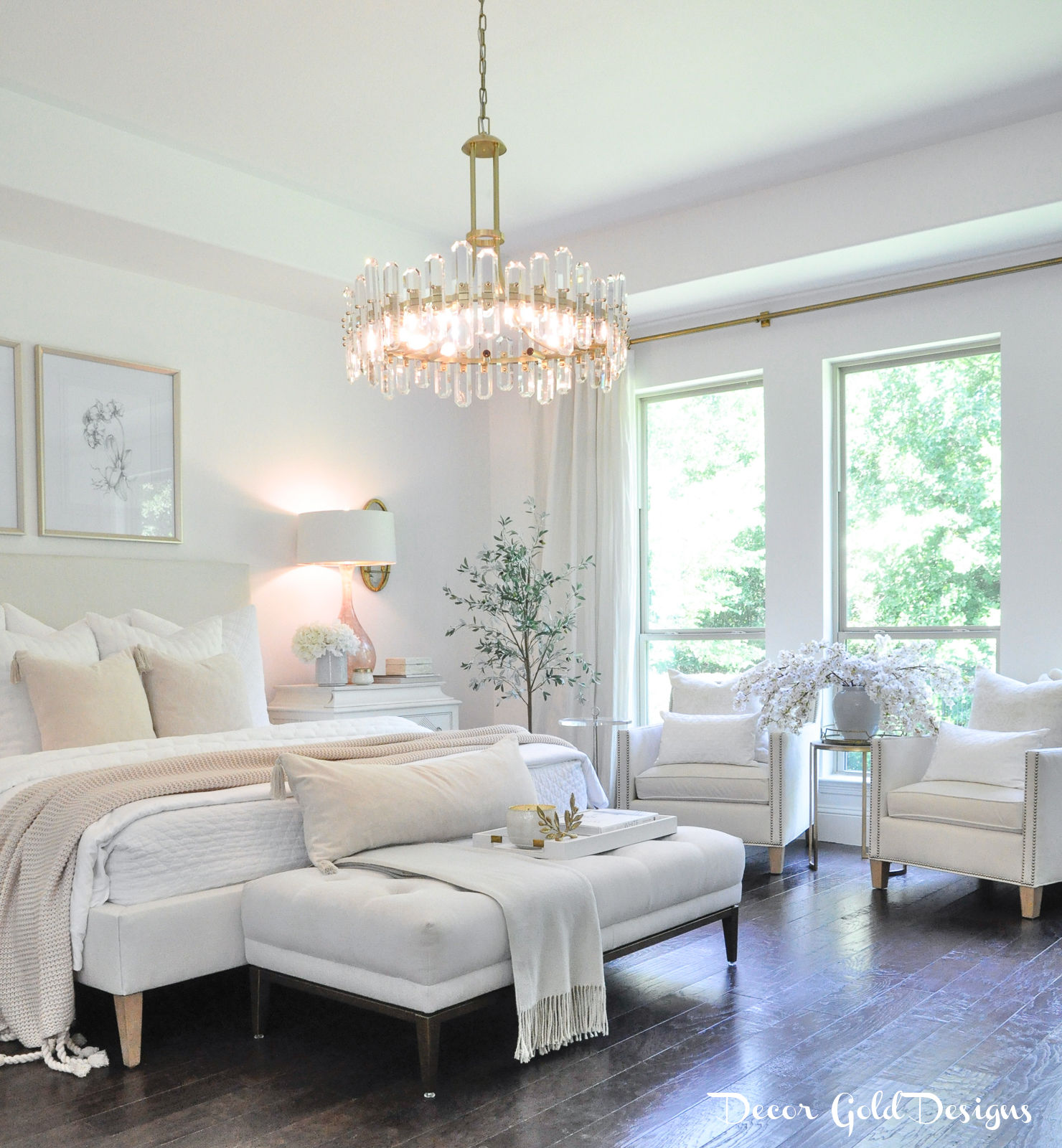 Master bedroom questions answers white blush beautiful chandelier