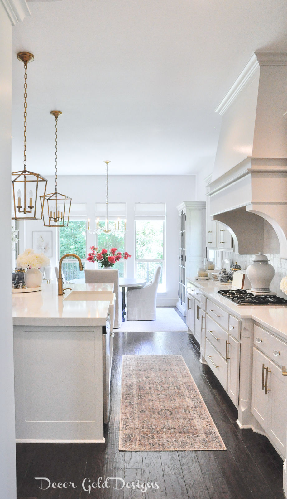 Summer home tour bright white kitchen